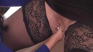 I am pierced MILF Marina with heavy pussy piercings fisted