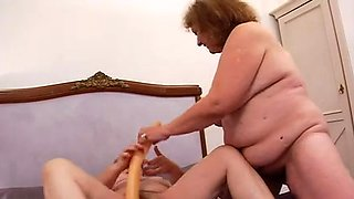 Fat French grannies dicked in all holes