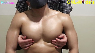 Hot guy gets nipples clamped and then played!