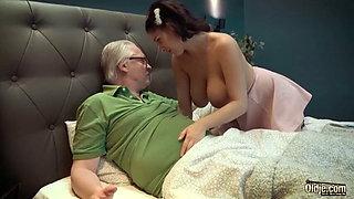 Old man with nurse