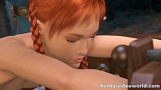 3d hentai redhead losing virginity
