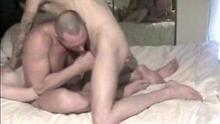 Amateur bisex MMF scene two