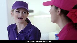 DaughterSwap - Teen Tennis Stars Ride Stepdads Cock