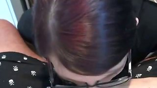 Ex Girlfriend In Glasses Sucking Dick Point Of View
