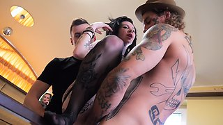 Young men caught tattooed Megan Inky and gangbang her