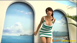 Hot Asian Girl In Green Lingerie