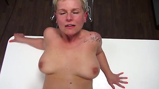 Mature casting squirting orgasm big boobs cum on face