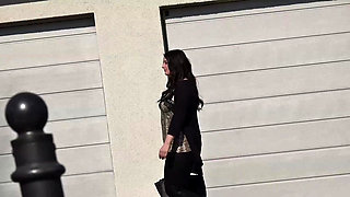 GERMAN SCOUT - Chubby Teen Elisa Cheat BF and Street Casting