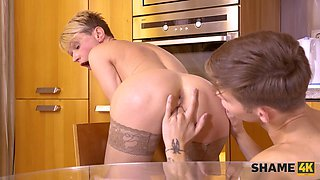 SHAME4K. Hot studs dream is to have an adventure with an old hottie