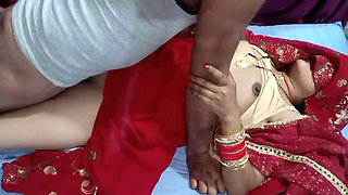 Indian newly married wife first night sex IN bedroom