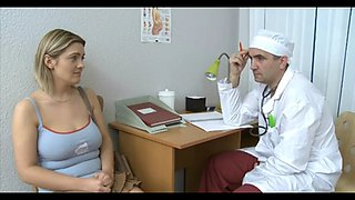 The gynecologist excited the patient during the examination and famously fucked all holes