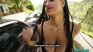 Ebony Doll  s Huge Natural Boobs Bounce around 24-7