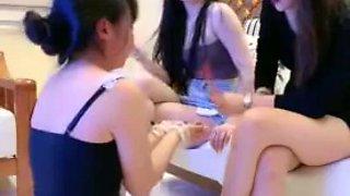 Chinese Lezdom 1 Feet humiliation Face slap