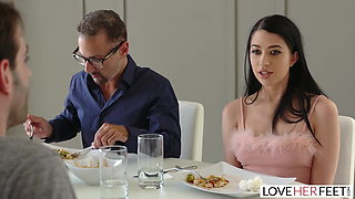 LoveHerFeet - Hot Latina Foot Sex With Big White Dick