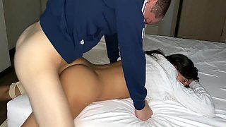Drunk Sleeping Young Stepsister Katty West Was Fucked And Creampied By Her Brother