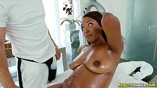 white hunk liked big brown boobs and dark nipples