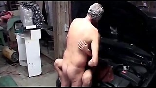 Blonde Teen and Old man