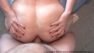 POV ANAL Mexican Granny Acquires Ass Screwed
