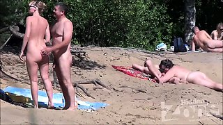 Swinger couple public beach group sex