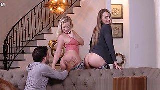 Milf stepmom booty jizzed in threesome