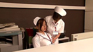 Best Japanese slut Love Saotome, Minami Hirahara, Nana Usami, Hitomi Fujiwara in Fabulous medical, nurse JAV clip