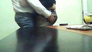 Spycam movie with Turkish pair making love at work
