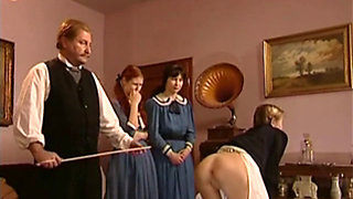 Sluts getting a Christmas Caning and Enema
