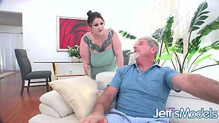 Plumper Heady Betty Serves Her Man a Pair of Big Natural Milkers for Dinner