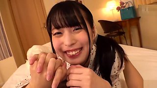 One of Teenage girl from japan Loving in Hand job with his brother