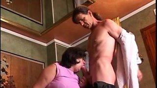 European granny movie with Martha doing hot blowjob