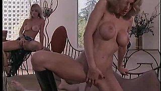 Fake tits Devon drilled using toy in ffm threesome