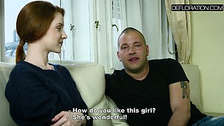 Redhead Mila loves big cock