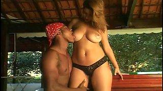 Tatiana gorgeous brazilian fucked on pool table then anal