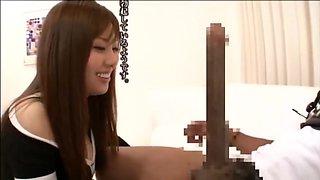 BBC Asano Harumi Japanese Female Sexy Lingerie Sex Freak Penis 40cm African