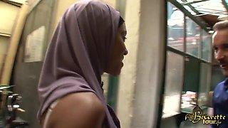 Ebony French slut gets some oral fun in HD