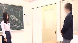 Subtitled CFNM Japanese classroom penis confessions