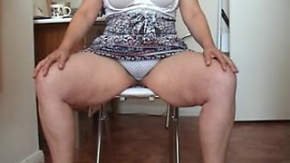 Upskirt British granny lets me sniff her knickers for money