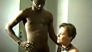 Cuckold husband tapes his chubby brunette wife having oral and missionary sex with a skinny nerdy black guy